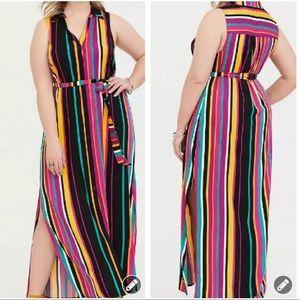 Torrid colorful stripe woven maxi dress #1967